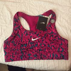 Sports bra Pink with blue and black nike Dri-fit sports bra Nike Other