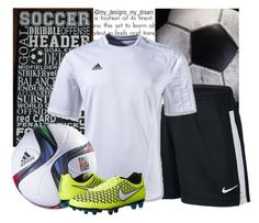 """""""Soccer"""" by my-designs-my-dream ❤ liked on Polyvore featuring мода, NIKE и adidas"""