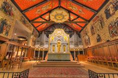 The rich interiors of the Cathedral Basilica of St. Augustine include rich tapestries, stained glass, and stunning murals (photo courtesy of Matthew Paulsen)