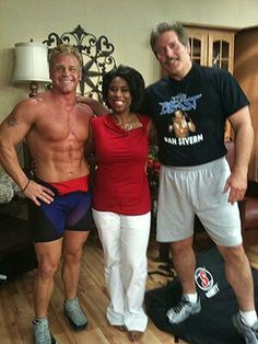 Oldie But Goodie Dan The Beast Severn And National Tv Host Gayle Bass And I Perform Self Defense Fitness Experts Ufc Heavyweight Champion Fitness Business