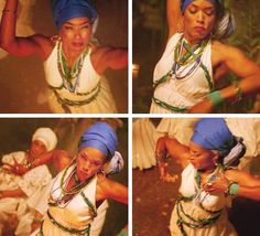 Angela Basset as Marie Laveau voodoo ritual performance scene from AMERICAN HORROR STORY: COVEN.