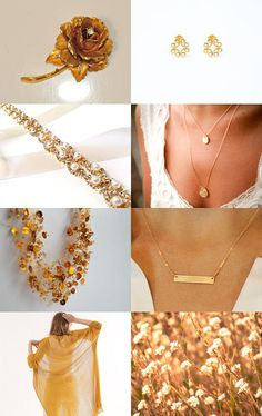 Summer in gold by Marzena on Etsy--Pinned with TreasuryPin.com