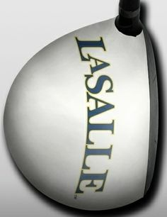 Personalized golf driver decal by Big Wigz Skins - La Salle White.  Buy it @ ReadyGolf.com