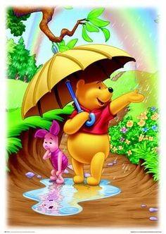 Winnie The Pooh With Rainbow!