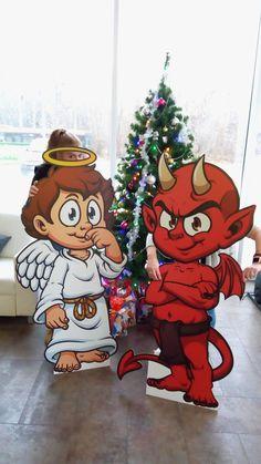Kartónové postavy #tlač #kartón #Vianoce #postavičky #anjel #čert #výroba #figurín