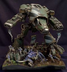 'Hunting Bigger Game' Warhound Titan Diorama
