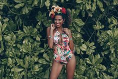 High neck floral onepiece with neckties on Jackie Almeida at The Surin Phuket. Neckties, Phuket, One Piece, Beach, Floral, Swimwear, Life, Fashion, Bathing Suits