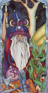 The Magician - Tarot of a Moon Garden Deck