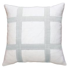 Linen Grid Ice Lounge Pillow