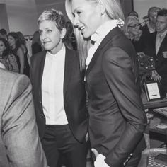 Ellen and Portia True Love Ellen Degeneres And Portia, Ellen And Portia, Portia De Rossi, Funny Me, Singles Day, New York Fashion, True Love, Work Hard, Real Life
