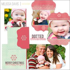 Christmas in July! NEW 2012 Dotted Christmas template set from Melissa Davis Designs