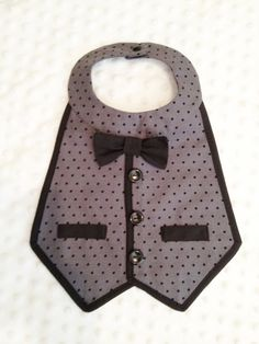 Boys Tuxedo Bib - Formal photo prop. $21.00, via Etsy.