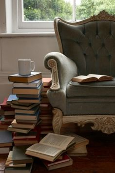 Someday, I'l have a delightfully dramatic reading chair or chaise lounge for my home office…