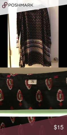 NWOT Babydoll Dress-- Beautiful Black & Red Print NWOT-- never worn, purchased online. Unsure of brand, size small. Dresses Long Sleeve