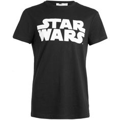 TOPMAN Black Star Wars Logo T-Shirt ($33) ❤ liked on Polyvore featuring mens, men's clothing, men's shirts and men's t-shirts