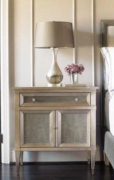 Venice Nightstand in Silver Leaf, Bed Down Furniture Atlanta, Interior Design