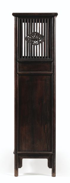 A RARE ZITAN CABINET, CHINA, QING DYNASTY, EARLY 18TH CENTURY