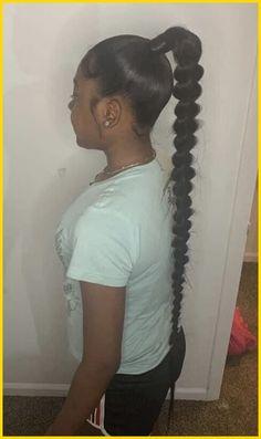 Long Ponytail Hairstyles, Hair Ponytail Styles, Black Girl Braids, Braided Hairstyles For Black Women, Baddie Hairstyles, Braids For Black Hair, Girl Hairstyles, Short Hair Styles, Braided Ponytail Black Hair