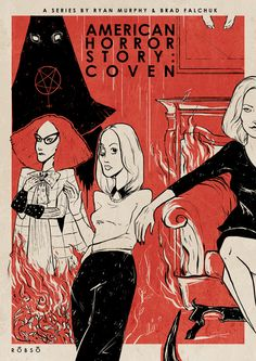 American Horror Story: Coven (fanart posters) by Roberto Sánchez, via Behance
