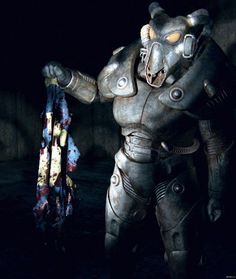 Fallout 2 Fan Art by Andrius Balčiūnas Fallout Power Armor, Fallout Cosplay, Fallout Game, Fallout Wallpaper, Fallout Concept Art, Post Apocalypse, Comic Books, Inspiration, The Incredibles