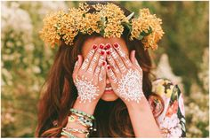 #showmeyourmumu @❋ Show Me Your Mumu ❋ #henna #flowers #boho #fashion #fall