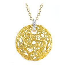 I. Reiss Round Hallow Nest Satin Finish Pendant Necklace ($1,078) ❤ liked on Polyvore
