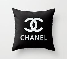 Chanel Pillow cover 18x18 inch Decorative Cushion  by AnnieColor, $23.00