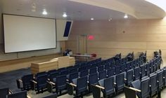 Empty Djavad Mowafaghian Lecture Theatre during reading break.