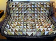 Quilted Couch Throw Table Cloth Bed Topper by Quiltsbysuewaldrep
