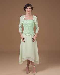Casual Mother Of The Bride Dresses Tea Length