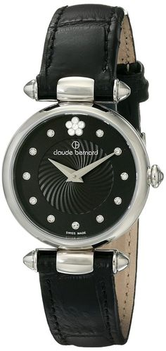 Swiss Made Claude Bernard 20501 3 NPN2 Women's Watch Swarovski Crystal Dial Markers Black Sunray Dial. 100% Authentic. FREE US SHIPPING. MAKE AN OFFER!