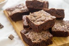 Why I love this recipe: 3 words, chocolate, chocolate, chocolate. And I don't even have to get out my mixer! Try using white chocolate chips for an extra shot of sweetness. Chocolate Chunk Brownies, Salted Chocolate, White Chocolate Chips, Chocolate Desserts, Chocolate Truffles, Chocolate Lovers, Brownie Desserts, Köstliche Desserts, Delicious Desserts