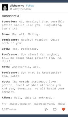 I ship scorpius and rose but rose seems really aggressive Harry Potter Ships, Harry Potter Love, Harry Potter Universal, Harry Potter Fandom, Rose And Scorpius, Scorpius Malfoy, Albus Severus Potter, Hermione Granger, Draco