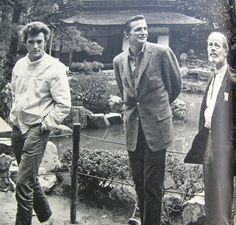 Eric Fleming with Clint Eastwood and Paul Brinnegar in Japan 1962