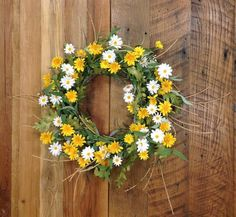 "Daisy Sunshine Wreath - 20"" - HOME DECORATIVE ACCENTS - 2"