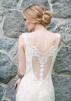 Grecian wedding dress inspiration | photo by Melissa Gidney Photography | 100 Layer Cake