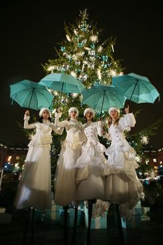 Christmas Stilts for Corporate Events