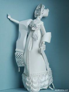 historical costume from paper by Asya Kozina, via Behance
