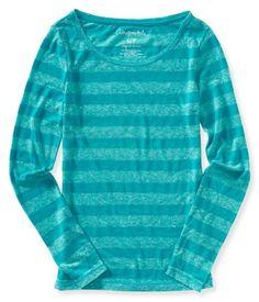 Aeropostale Womens Neon Striped Graphic Tee Camiseta Rayada 81c8459e167