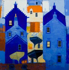 George Birrell - Blues No 5 mixed media