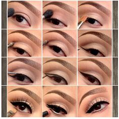 Neutral eyes with retro eyeliner equals perfection!