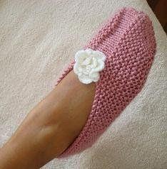 Zapatillas para dormir - Adulto tricô - Tutorial croche ❥Teresa Restegui http://www.pinterest.com/teretegui/❥