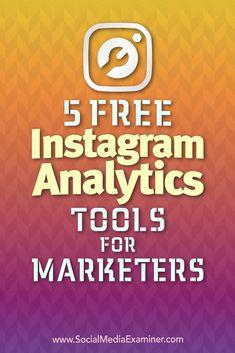 5 Free Analytics Tools for Marketers by Jill Holtz on Social Media Examiner. Social Marketing, Marketing Digital, Marketing Mail, Marketing Na Internet, Marketing Online, Facebook Marketing, Marketing Tools, Content Marketing, Mobile Marketing
