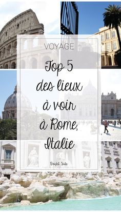 CITY GUIDE ROME TOP 5 des lieux incontournables à Rome ! What to visit in Rome : TOP 5 !
