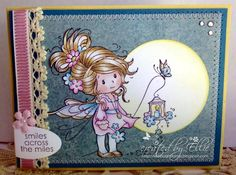 "Stamps used: Sweet Sparkle by Sylvia Zet, sentiment from set ""By the Seashore""."