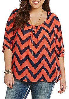 Plus Size Chevron Top