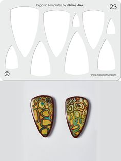 Organic Template No. 23 with Coastal Shield Earrings http://www.melaniemuir.com/tools/no-23-clear-acrylic-templatestencil