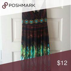 """Tie Dye"" dress Multi colored knee length dress Dresses Midi"