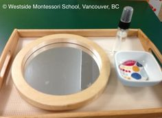 Practical Life activity - mirror polishing. @wmswms (Westside Montessori School, Vancouver, BC)