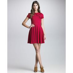Bow-Detailed Short-Sleeve Dress - RED Valentino